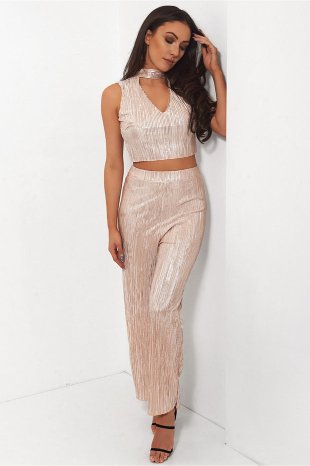 Gold Satin Co-Ord