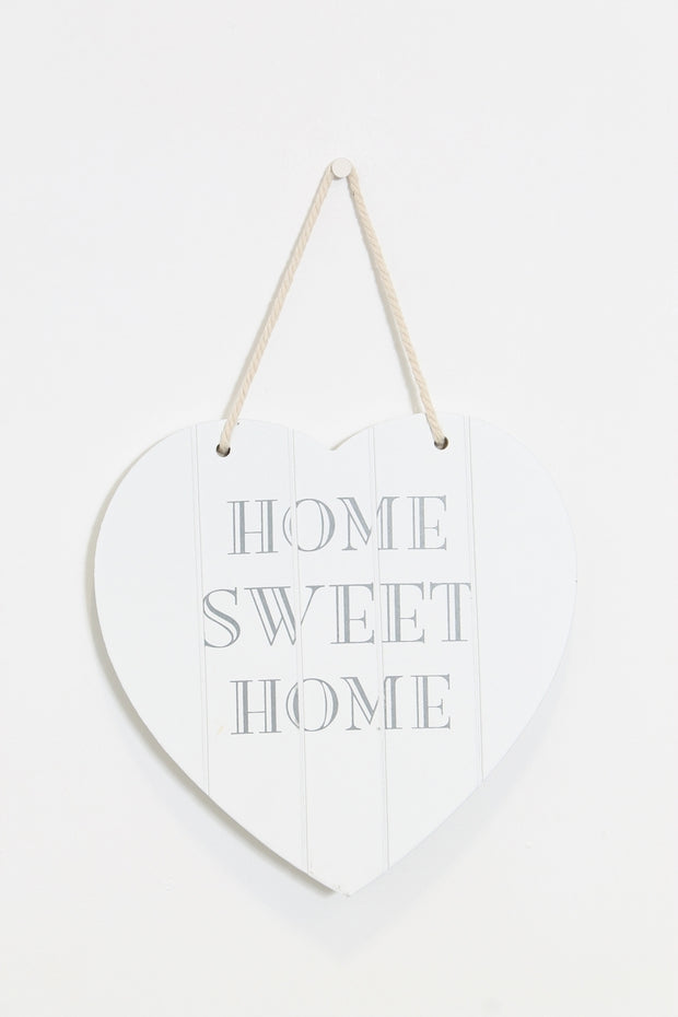 White Wood LOVE Wall Plaque