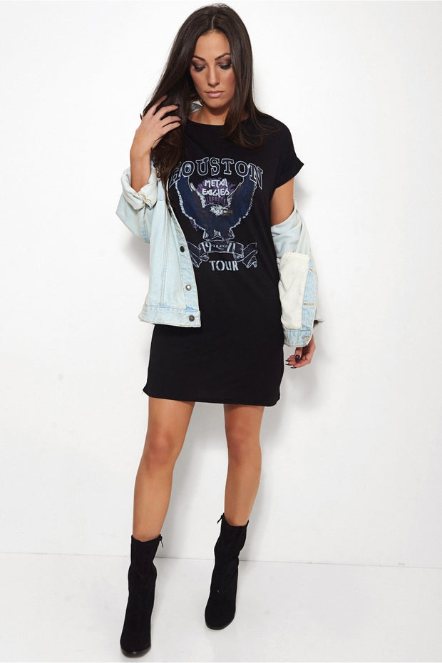 Houston Oversized Black T-Shirt
