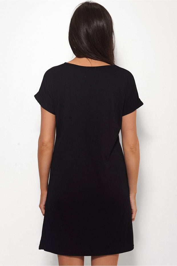 Houston Oversized Black T Shirt