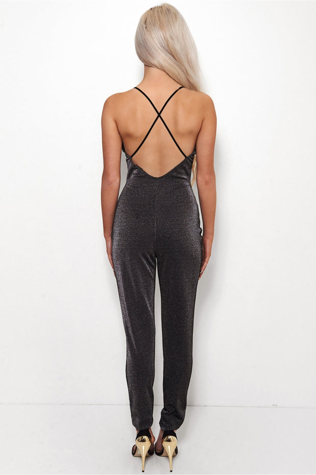 Gigi Black Sparkle Jumpsuit