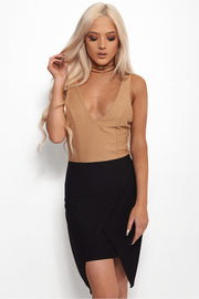 Lia Stone & Black Strappy Bodycon Dress