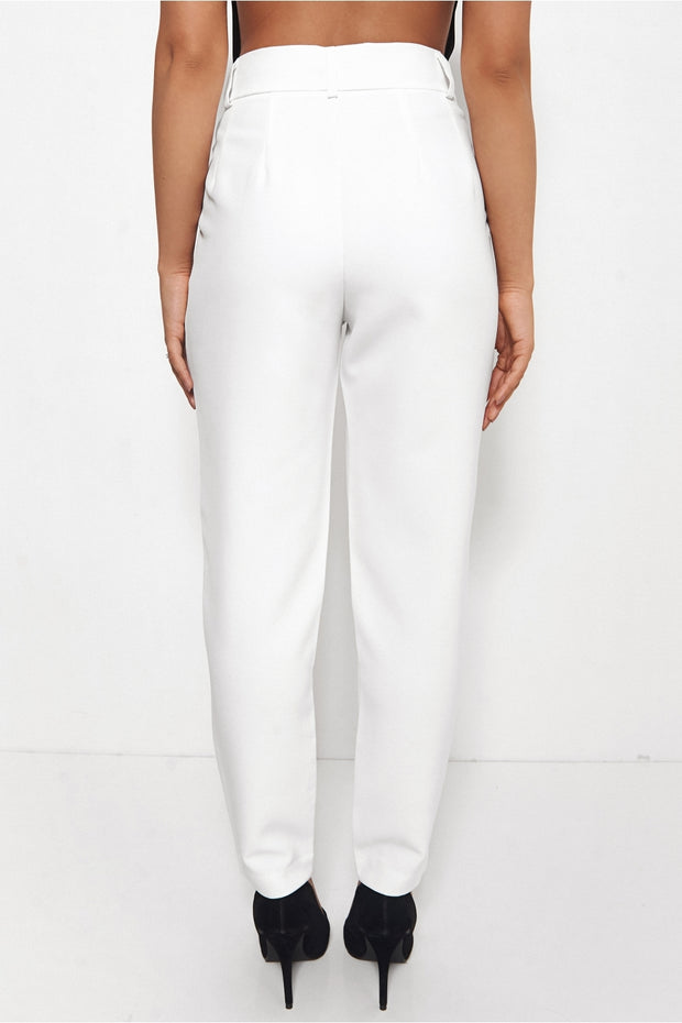 Tokyo White Tailored Trousers
