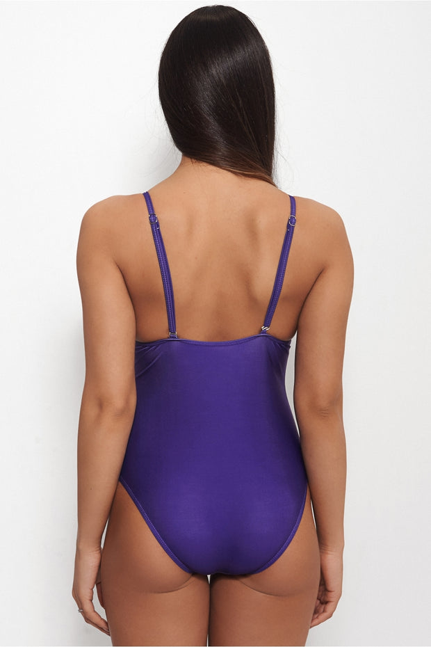 Mermaids Have More Fun Purple Slogan Swimsuit