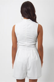 Liana White Choker Playsuit