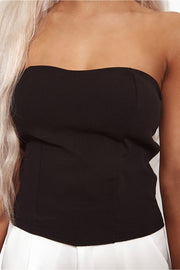 Alessia Black Bralet Top