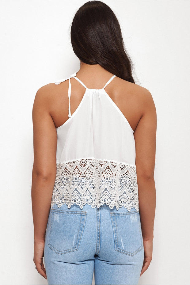 Rio White Camisole Crop Top