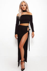 Dana Black Choker Co-Ord