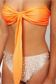 Vegas Orange & Gold Jewelled Bikini