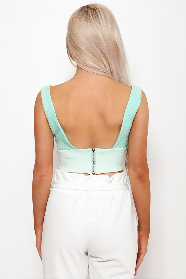 Liona Mint Bralet Top