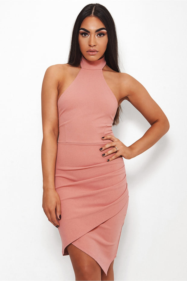 Sian Nude Backless Bodycon Dress