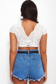Liv White Multiway Crop Top