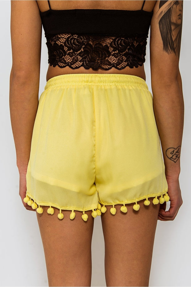 Limited Edition Yellow Pom Pom Shorts