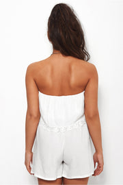 Deacon White Bandeau Playsuit
