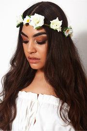 Cici White Daisy Headband