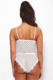 Cara White Lace Bodysuit