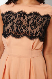 Pagan Nude Lace Playsuit