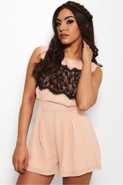 Pagan Pink Lace Playsuit