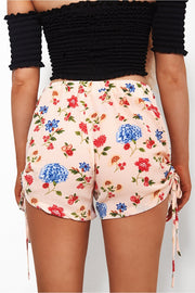 Pippa Pink Floral Tie Side Shorts