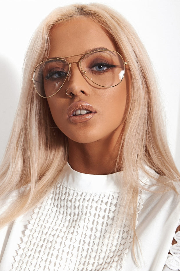 Laguna Clear Lens Gold Fashion Specs