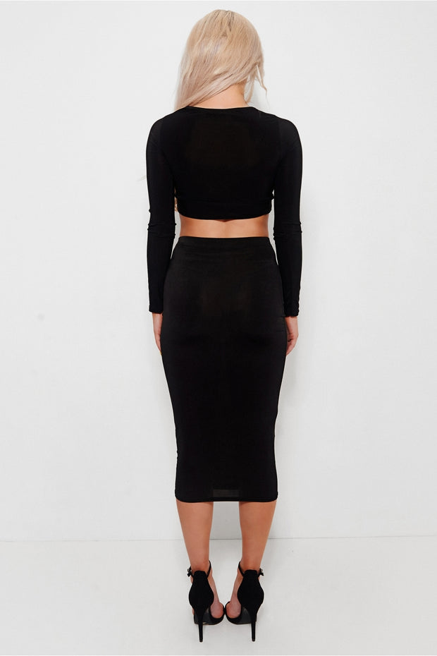 Brini Black Lace Up Co-ord