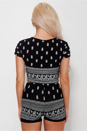 Bohemian Print Black Co-Ord