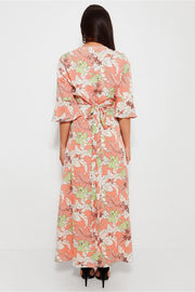 Sai Nude Floral Print Maxi Dress