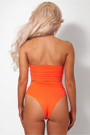 Lilly Neon Orange High Waisted Bikini