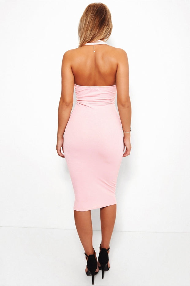 Thandie Pink Bodycon Dress