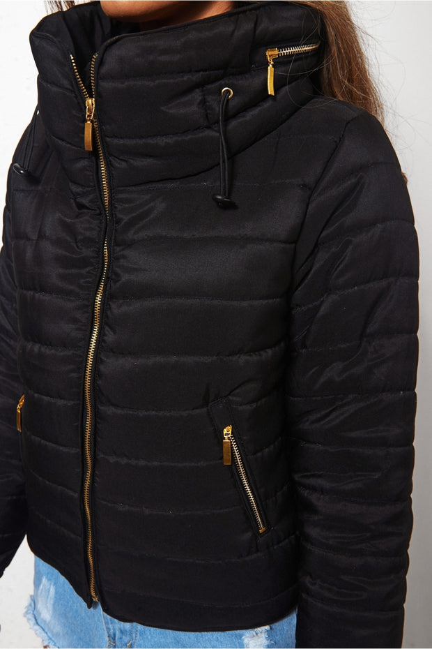 Black Padded Puffer Jacket