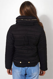 Black Padded Puffa Jacket