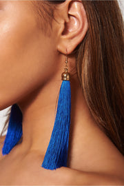 Isa Blue Tassel Earrings