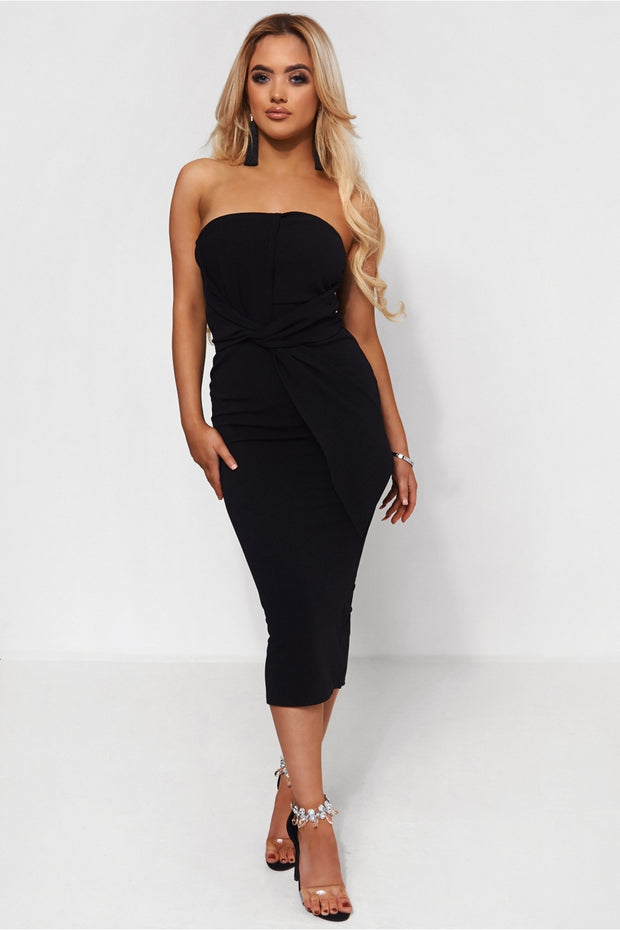 Darcy Black Strapless Bow Dress