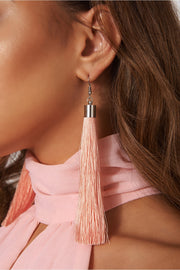 Nico Pink Tassel Earrings