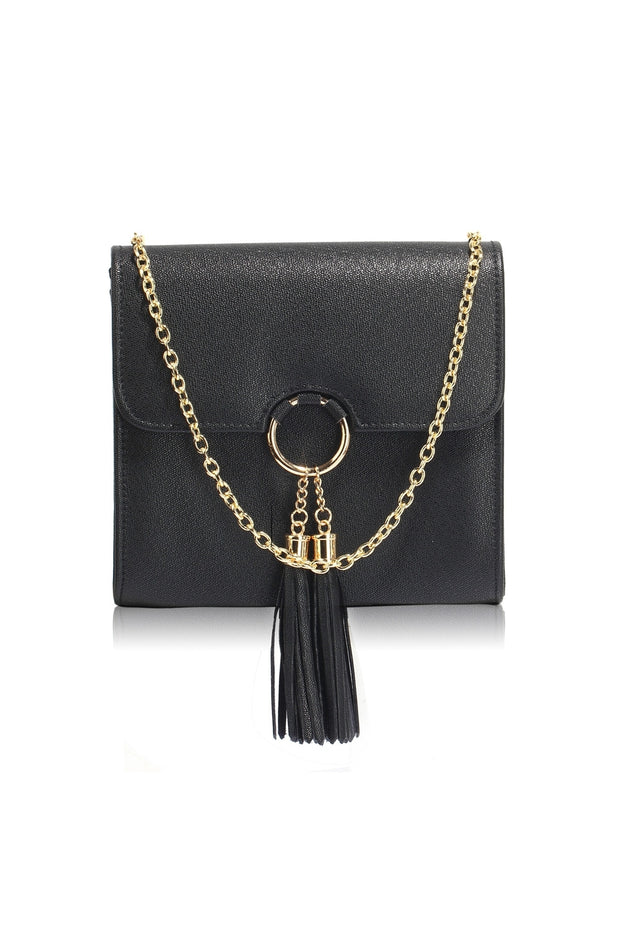 Anda Black Satchel Clutch Bag