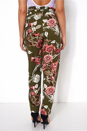 Floral Tie Waist Trousers