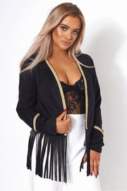 Limited Edition Black Faux Suede Jacket