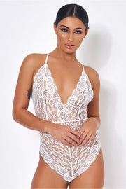 Naomi White Lace Bodysuit