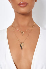 Double Layered Gold Arrow Necklace