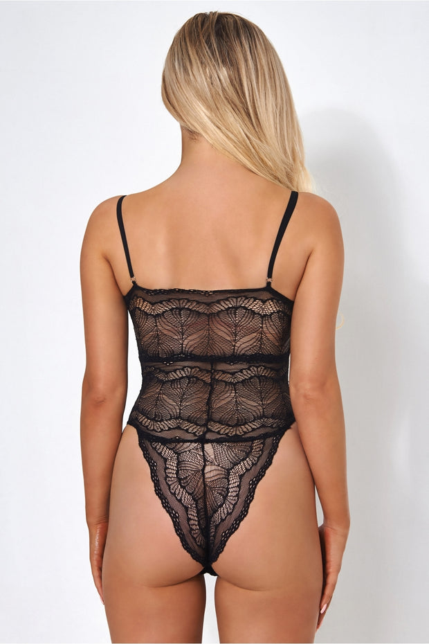 Miu Black Lace Bodysuit