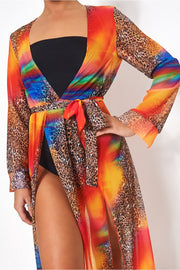 Saca Multicoloured Kaftan Maxi Dress