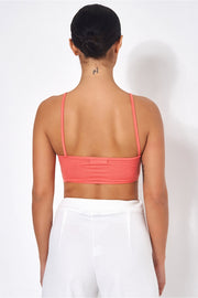 Sisi Coral Caged Bralet Top