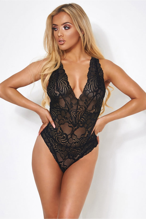 Fifi Black Lace Bodysuit
