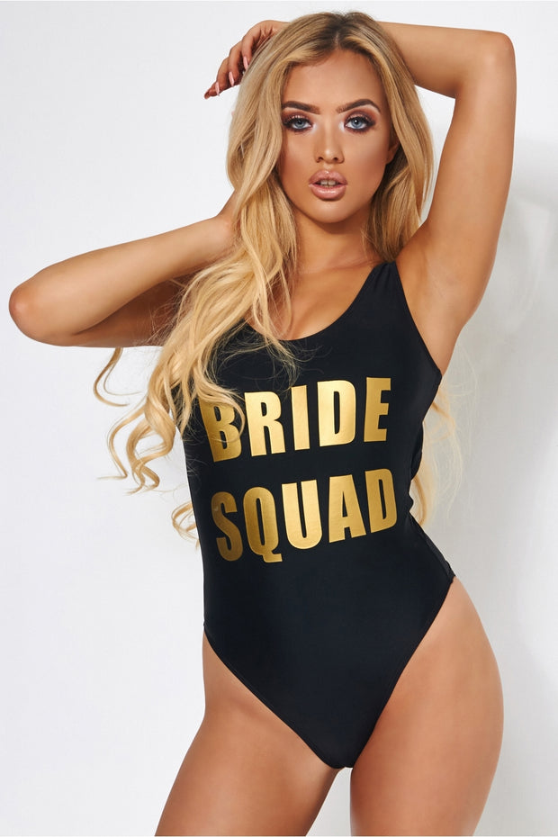 Bride Squad Swimsuit In Black