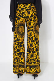 Black & Gold Wide Leg Trousers
