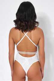 Tiona White Lace Bodysuit