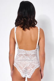 Fifi White Lace Bodysuit