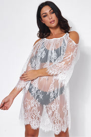 Lola White Lace Cover Up