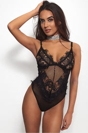 Tika Black Lace Bodysuit