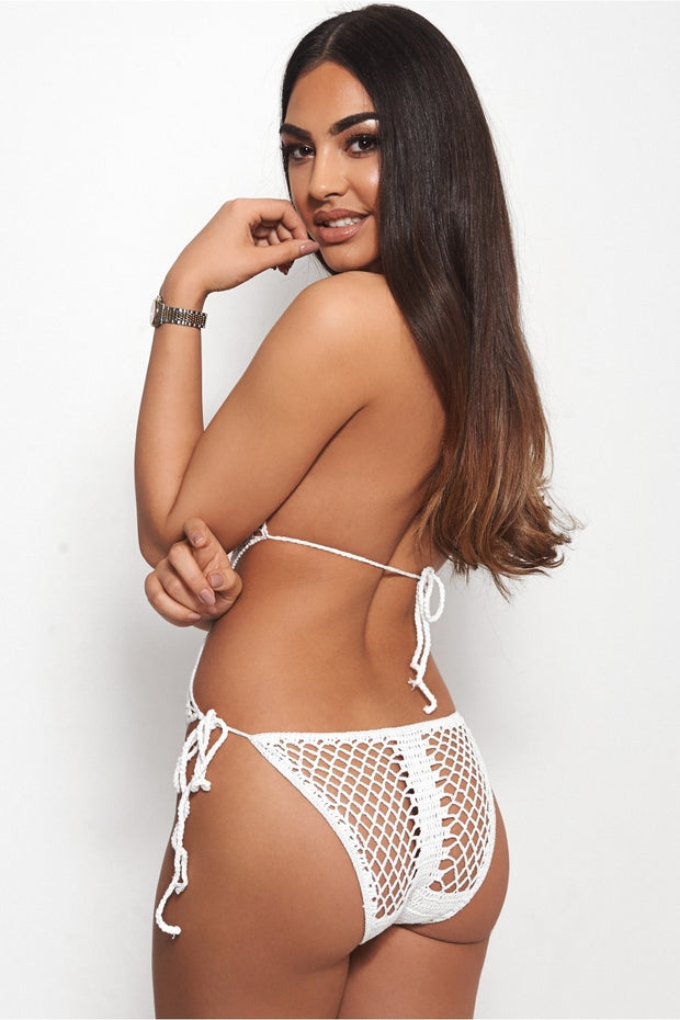 Tiki White Crochet Swimsuit